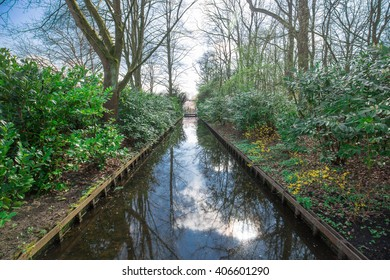 Water channel in the park