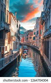Water channels in the city of Venice. Italy
