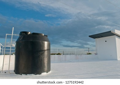 water cistern on the Dominican rooftops