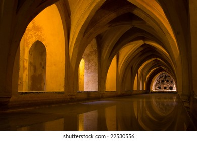 Water Cisterns in the palace of Alcazar - Seville / Spain