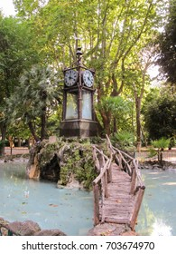 Water clock at Pincian Hill in Rome, Italy
