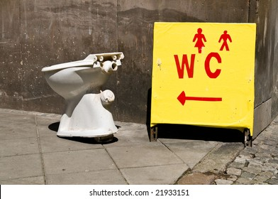 Water closet on the street.