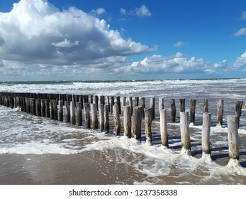 Water Coast Clouds Beach Netherlands Zeeland Zoutelande