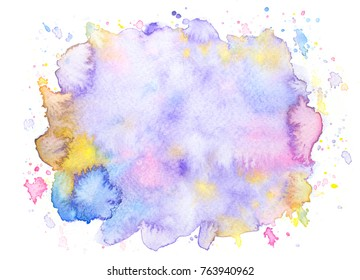 water color stains bright background.art hand painted splash by brush