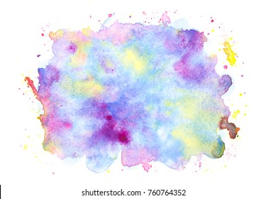water colorful stains bright background.art hand painted splash by brush
