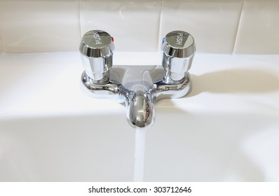 Water conserving Bathroom sink fixture