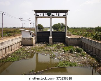 Water control station in countryside,Thailand