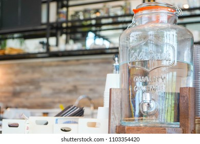 Water cooler for customer in coffee shop, beverage