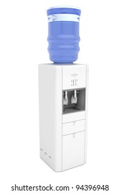 Water cooler on white background