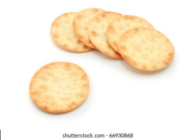 Water Crackers isolated on white