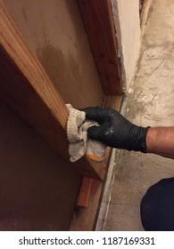 Water damage demo clean wipe Hepa suits demolition anti microbial vacuum mitigation remediation