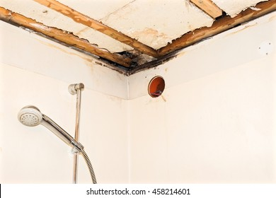 Water damaged ceiling.