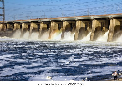 Water discharge at the hydropower plant
