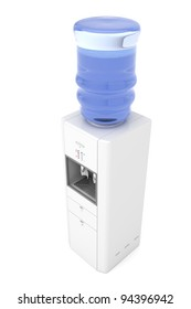 Water dispenser isolated on white background