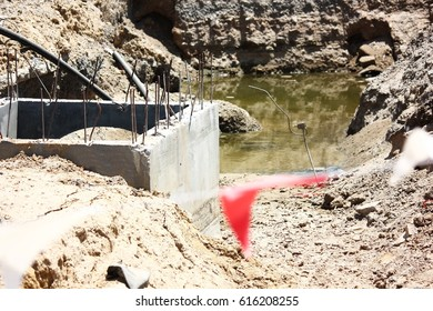 Water drain in construction