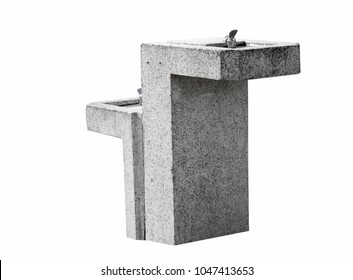 Water drinking fountain closeup isolated