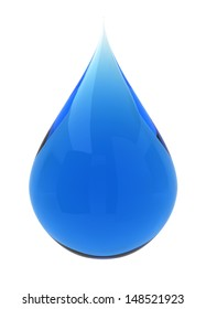 Water drop. 3d illustration on white background