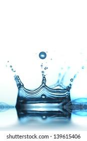 water drop falling in water