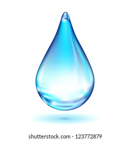 Water drop isolated on white background