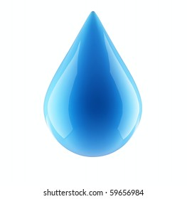 water drop isolated on a white background