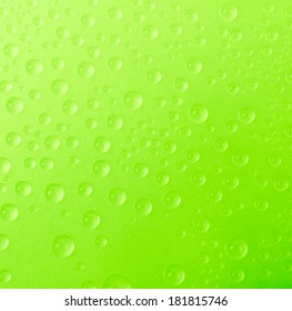 Water drop on color background