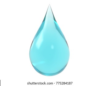 water drop on white isolated with clipping path, 3d rendering