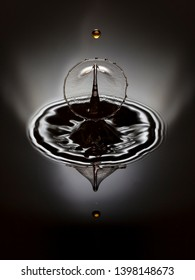water drop photo graphy in different color