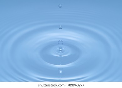 Water Drop - Pure clear and transparent of water and ripple in bright background. Creative modern concept, for graphic design, website, poster, placard and wallpaper.