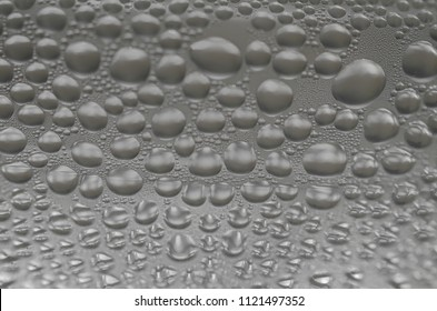 water droplet on white background,Condensed into cold water droplets.selective focus.