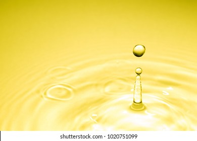 Water droplets and ripples