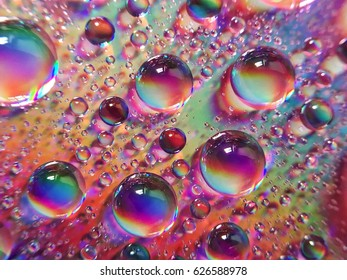 Water drops with amazing colors