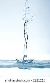 water drops falling on still surface