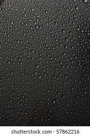 water drops on black