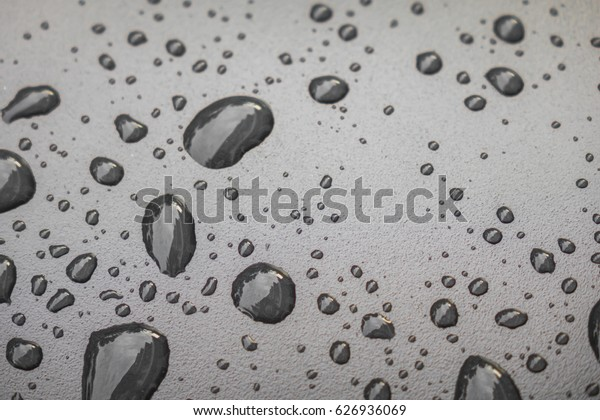 Water drops on black blackground