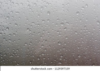 water drops on the car after raining,close up.