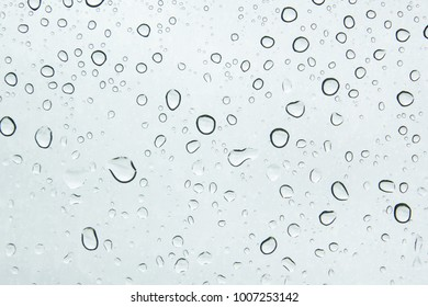Water drops on car glass.rain drops on clear window