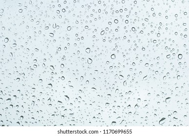 Water drops on car glass.rain drops on clear window