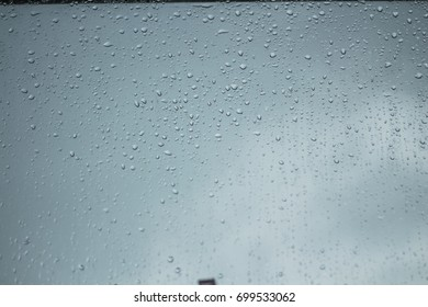 Water drops on clear glass.