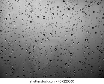 Water drops on a dark background