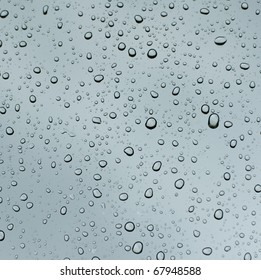 water drops on glass surface