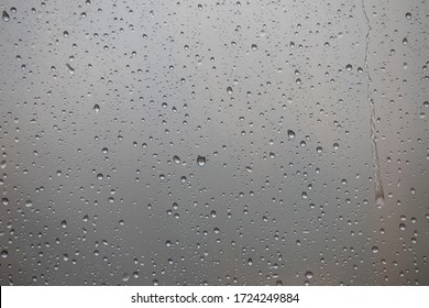 Water drops on glass window