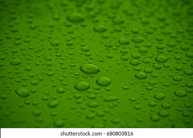 Water drops on green Texture and Background.