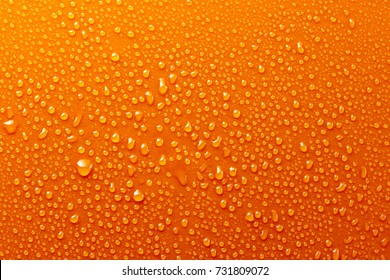 Water Drops On Orange Background Texture colorful waterdrop