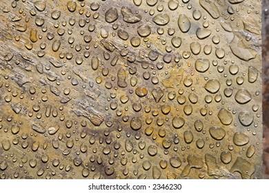 Water Drops on Slate