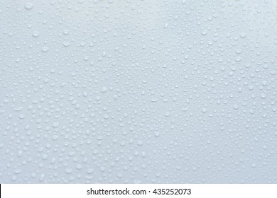 Water drops on a white background