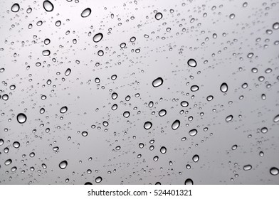 Water drops on a window after rain