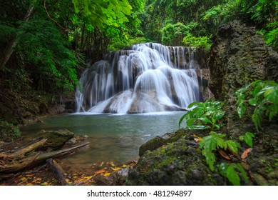 water fall in deep forest in Thailand