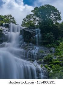Water Fall from Munnar Hills, Kerala, India slow shutter speed taken on Sep 2019