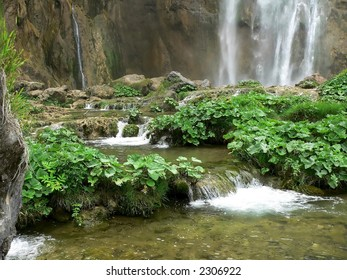 a Water fall in Plitvice National Park