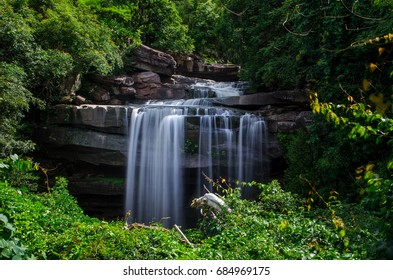 """Water fall, """"Tad Tone Water Fall"""" in Ubonratchathani Province, Thailand"""